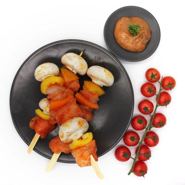 boerenspies kip paprika champignon